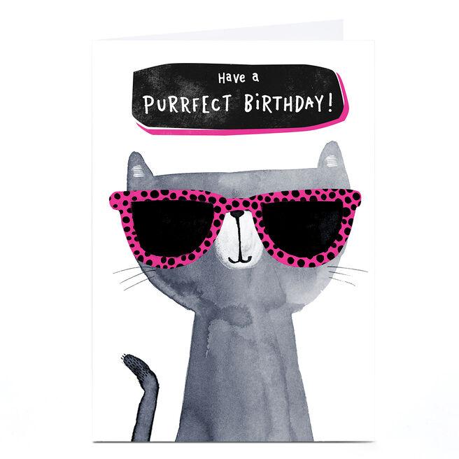 Personalised Andrew Thornton Birthday Card - Purrfect Birthday!