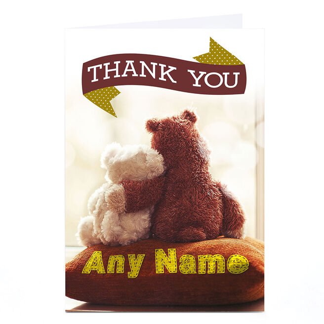 Personalised Thank You Card - Bear Cuddles