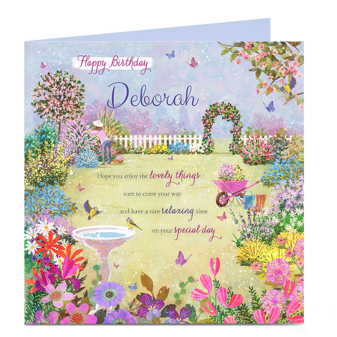 Personalised Charity Birthday Card - Enjoy The Lovely Things