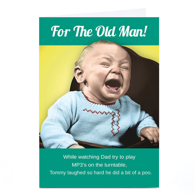 Personalised Emotional Rescue Father's Day Card - Old Man