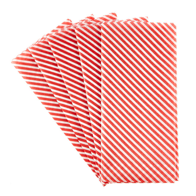 Candy Cane Stripes Christmas Tissue Paper - 7 Sheets
