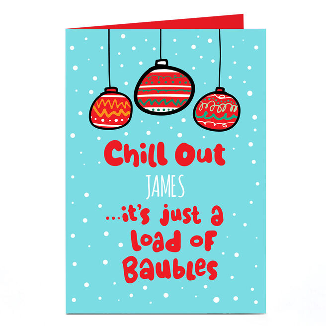Personalised Fruitloops Christmas Card - Chill Out