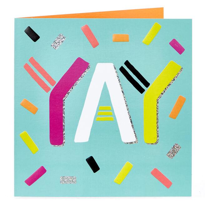 Blank Card - Yay, Confetti