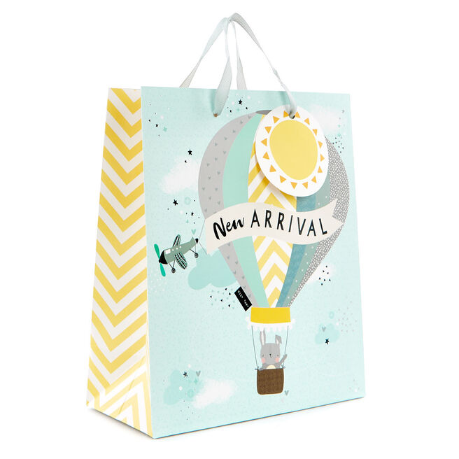 Small Blue And Yellow Gift Bag - New Arrival