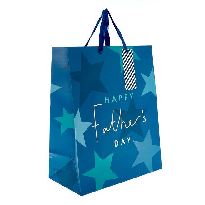 Medium Portrait Gift Bag - Happy Father's Day