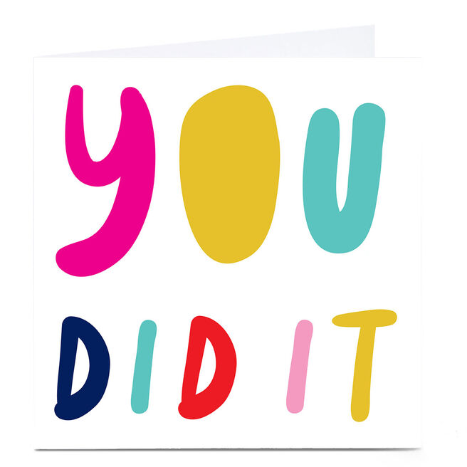 Personalised Hello Munki Card - You Did It