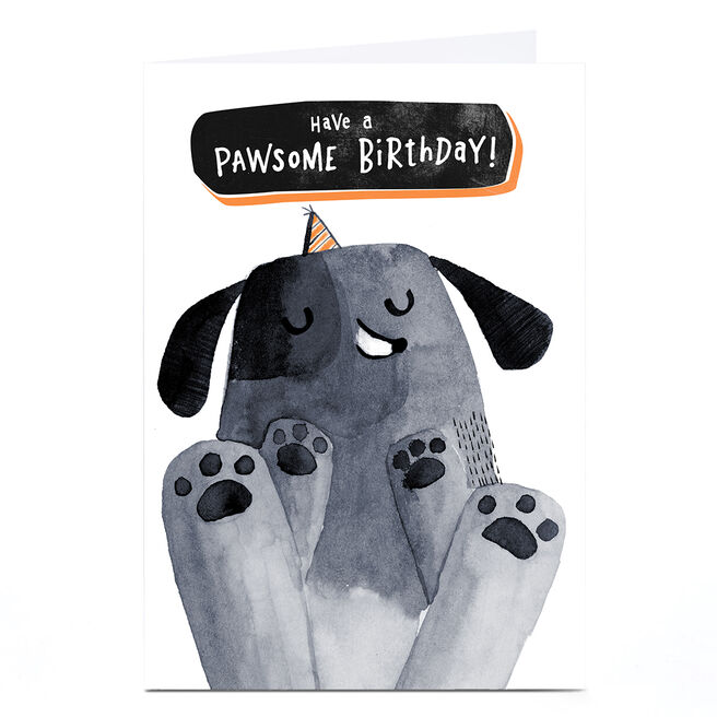 Personalised Andrew Thornton Birthday Card - Pawsome Birthday