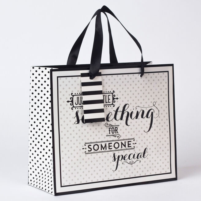 Black & White Someone Special Medium Landscape Gift Bag