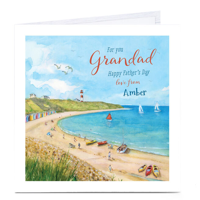 Personalised Father's Day Card - Coastal Grandad