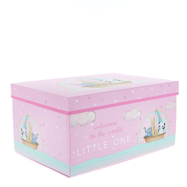 Magnetic Flat-Pack Baby Girl Gift Box