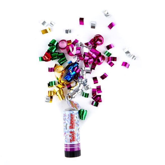 3 Twist Confetti Poppers