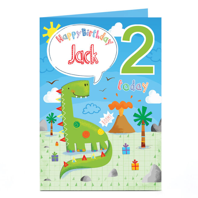 Personalised Any Age Birthday Card - Dinosaur