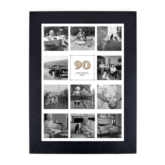 Personalised Milestone Age Photo Print - Any Age Collage Print