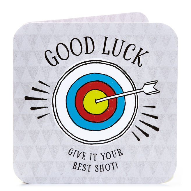 Good Luck Card - Give It Your Best Shot
