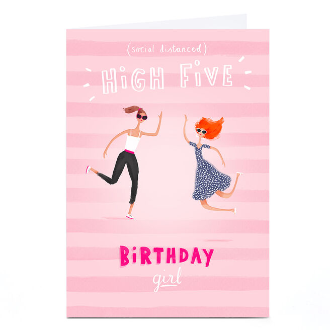 Personalised Andrew Thornton Birthday Card - Social Distanced High Five