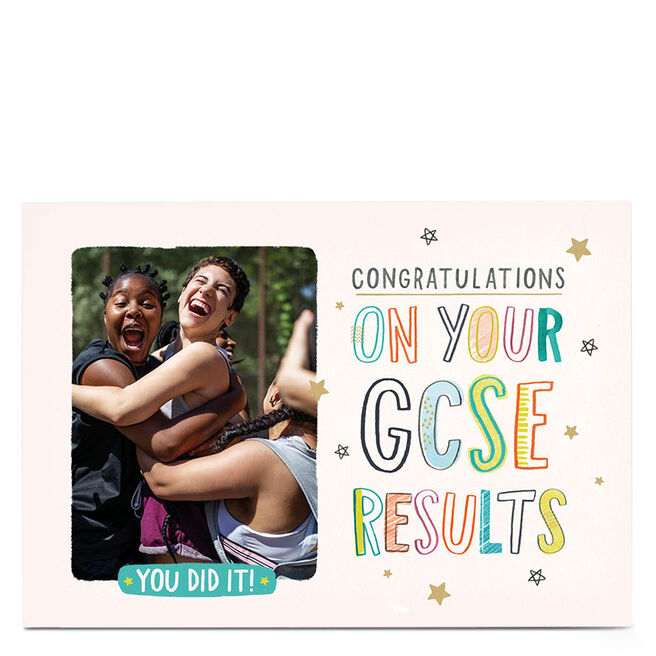Personalised Photo Exam Card - GCSE Results