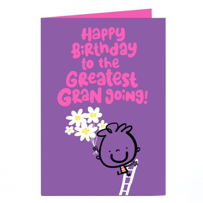Personalised Fruitloops Birthday Card - Greatest Gran Going