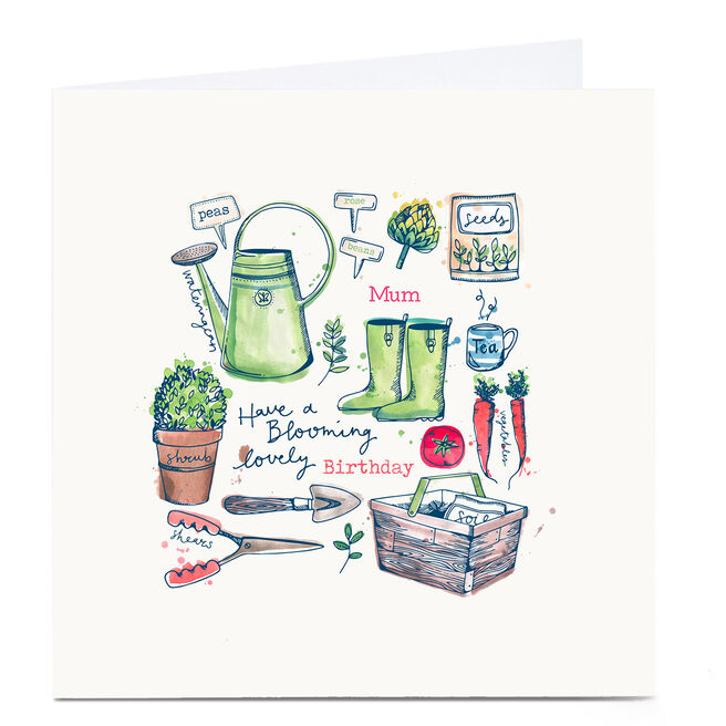Personalised Bev Hopwood Birthday Card - Blooming Lovely