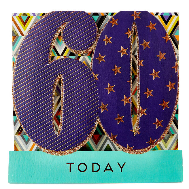 Exquisite Collection 60th Birthday Pop-Up Card - Stars & Stripes