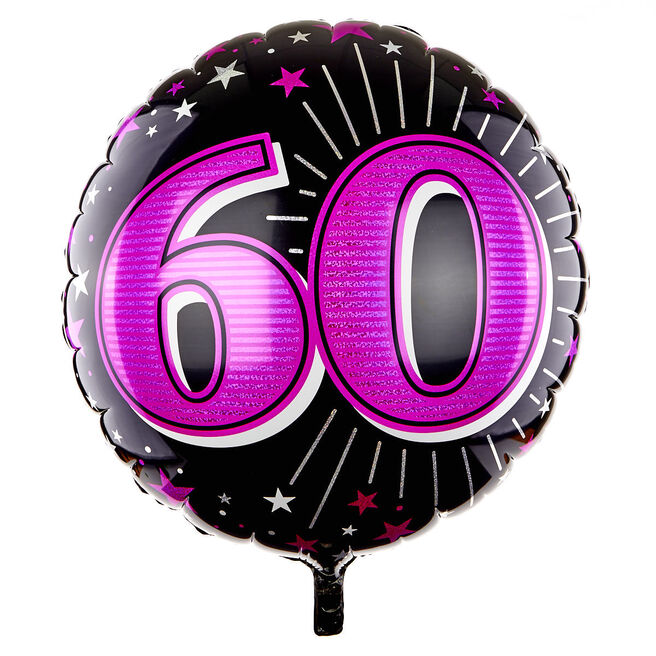 31 Inch 60th Birthday Helium Balloon - Pink