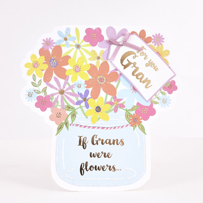 Boutique Collection Birthday Card - Gran Flowers
