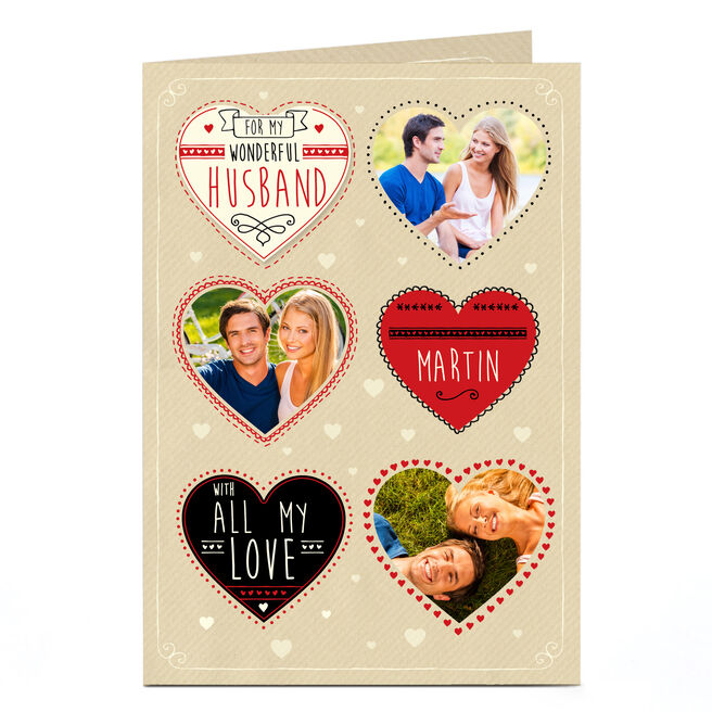 Photo Card - Hearts, All My Love
