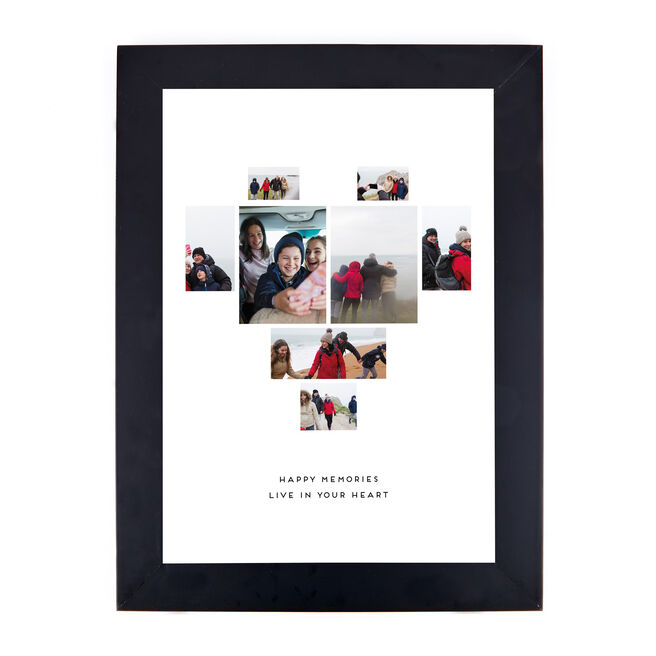 Personalised Photo Print - Happy Memories Live In Your Heart