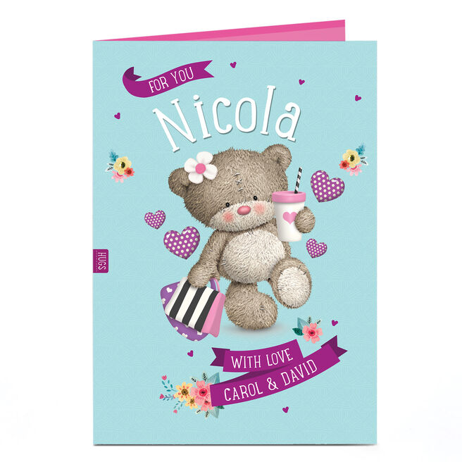 Personalised Hugs Bear Card - With Love