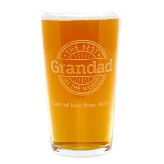 Personalised Pint Glass - The Best In The World