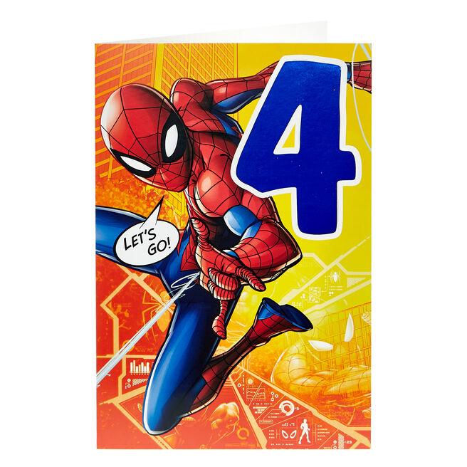 Spider-Man 4th Birthday Card