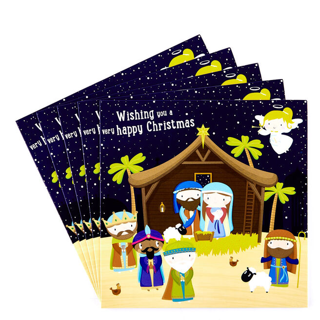 Charity Christmas Cards - Christmas Story Pack Of 10