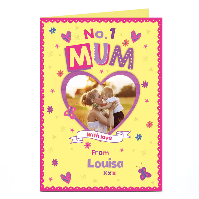 Photo Card - No.1 Mum With Love