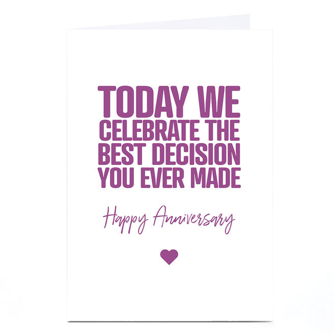 Personalised Punk Cards Anniversary Card - Happy Anniversary