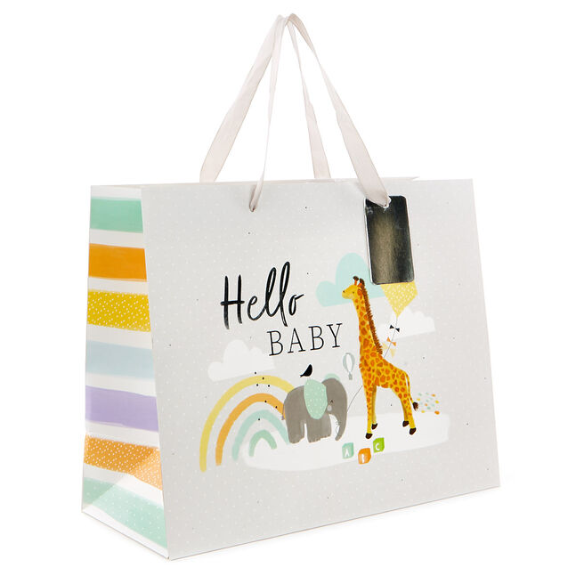 Medium Landscape Gift Bag - Hello Baby