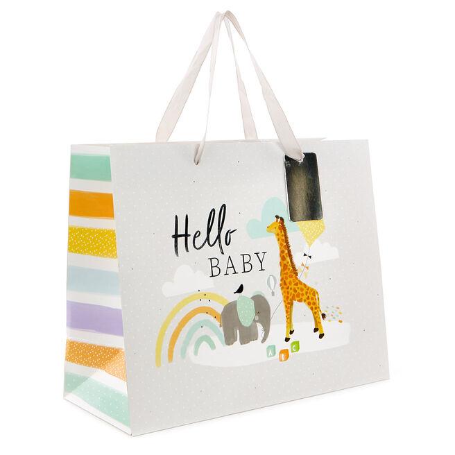 Medium Landscape Gift Bag - Hello Baby