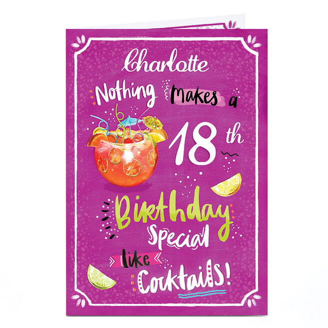 Personalised Birthday Card - Birthday Cocktails, Any Age