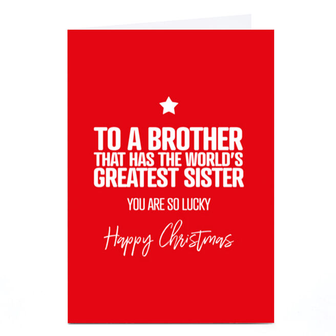 Personalised Punk Christmas Card - Brother From Sister