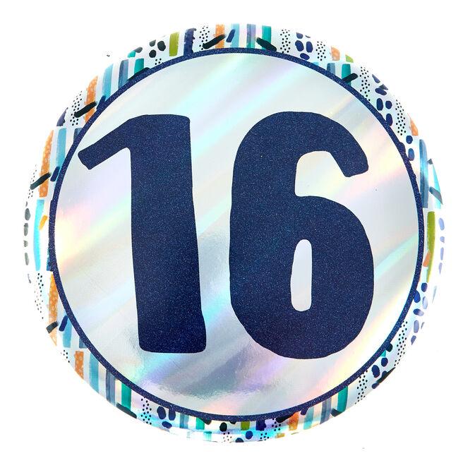 Giant 16th Birthday Badge - Blue