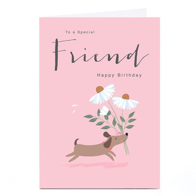 Personalised Klara Hawkins Card - Friend Dog