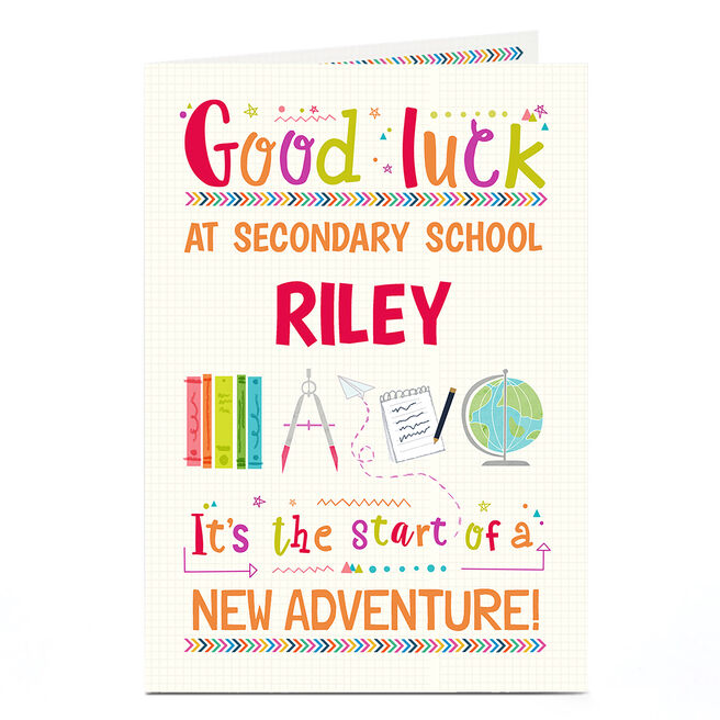 Personalised Back To School Card - New Adventure
