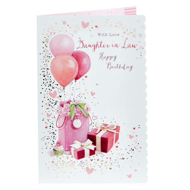 Birthday Card - With Love Daughter in Law