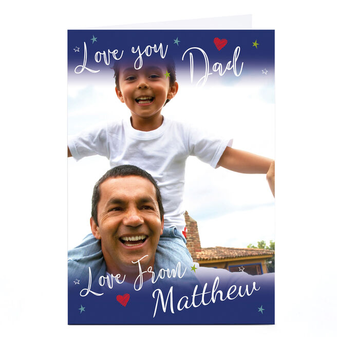 Photo Card - Love You Dad, Navy