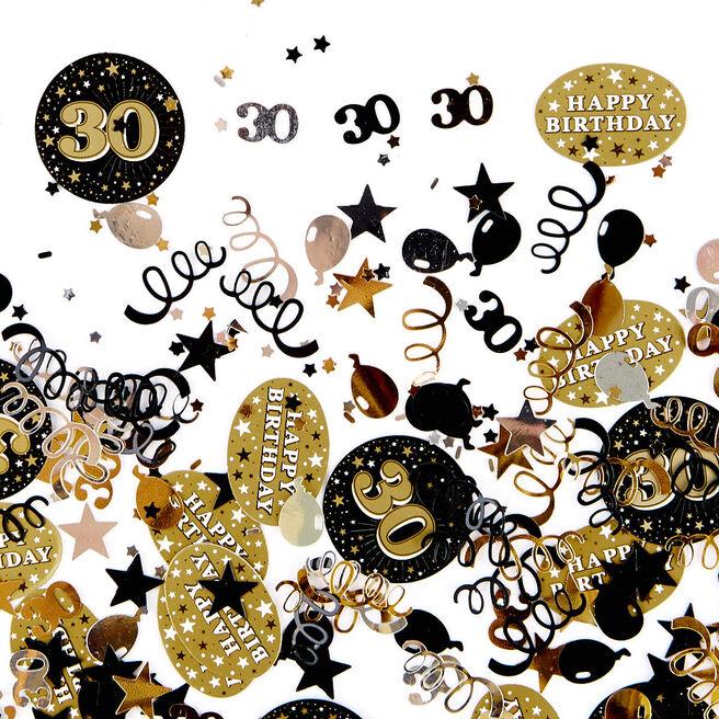 30th Birthday Gold Foiletti - Pack Of Three