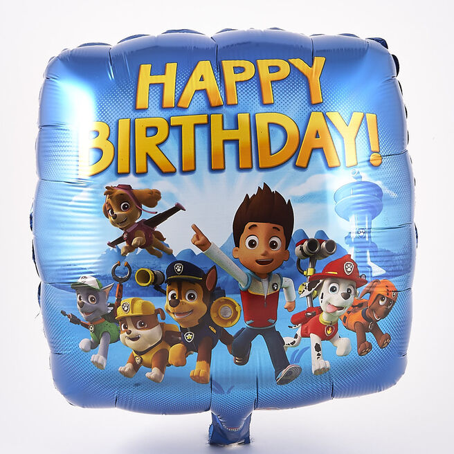 Paw Patrol Happy Birthday Foil Helium Balloon