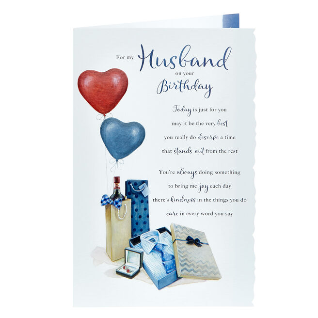 Birthday Card - For My Husband