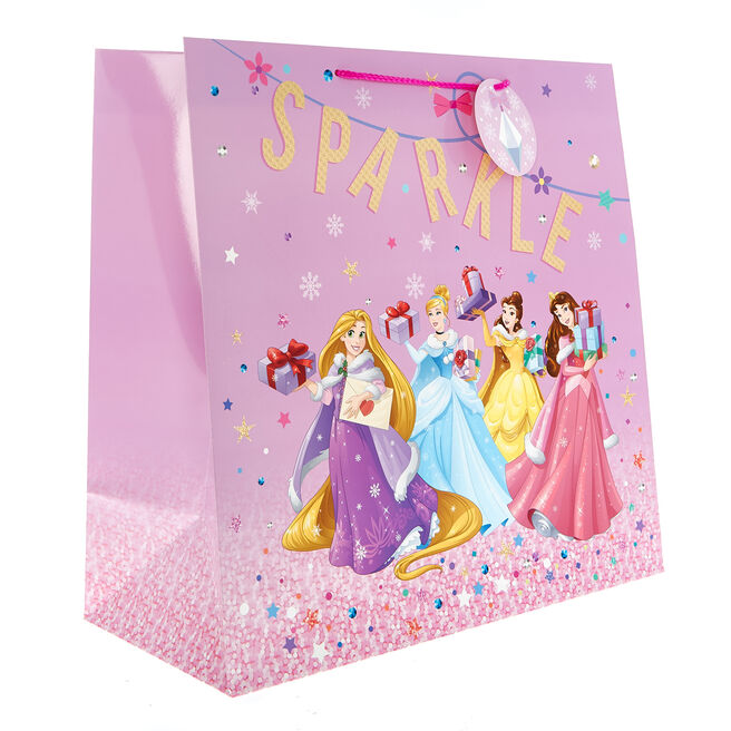 Jumbo Square Disney Princess Christmas Gift Bag