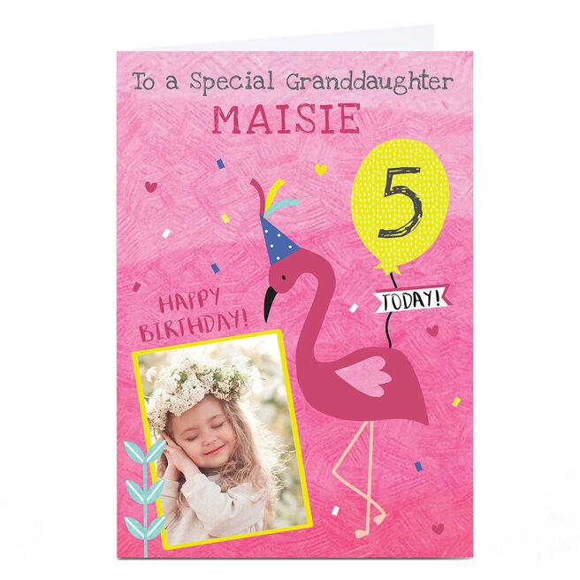 Photo Juniper & Rose Birthday Card - Flamingo