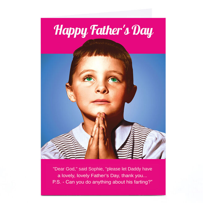Personalised Emotional Rescue Father's Day Card - Dear God...