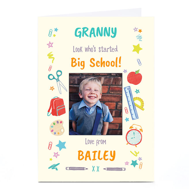 Photo Back To School Card - Look Who's Started