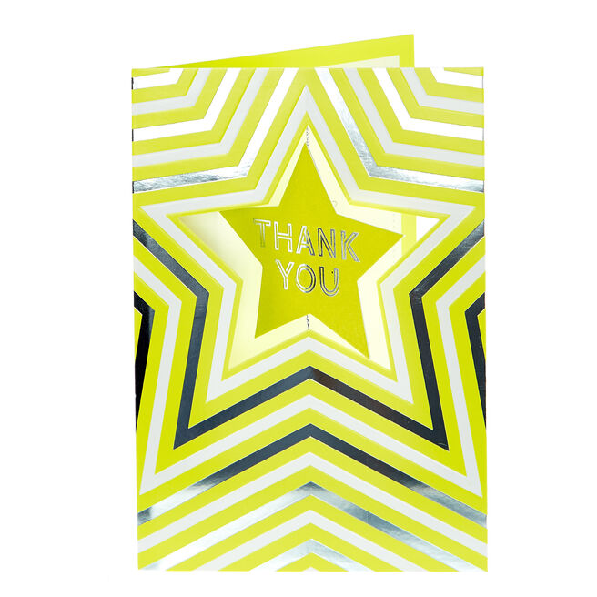 Thank You card - Neon Star
